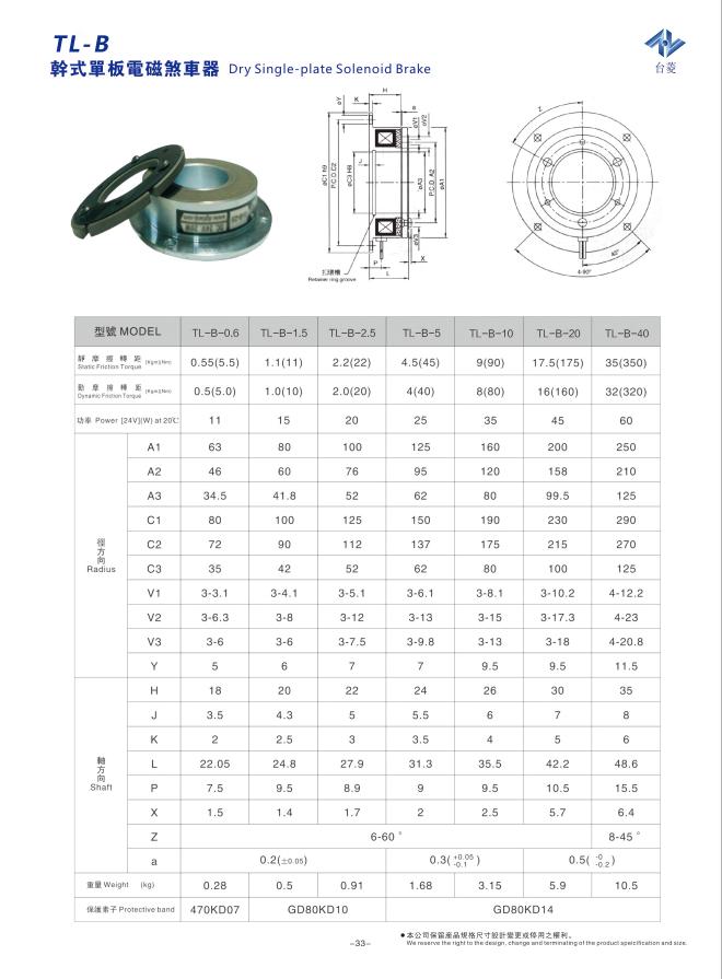 电磁制动器型号及参数-东莞制动器厂家